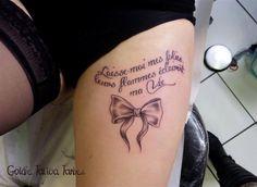 Tatouage Femme Phrase Haut Des Cuisses Tatouage De Phrases Et De