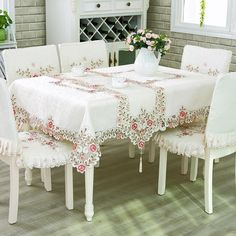 Embroidered Table Cloth Classic Round Square Home Banquet Table Cover Tablecloth Manteles Para Mesa Nappe Bugaboo Toalha De Mesa. Category: Home & Garden. Subcategory: Home Textile. Tablecloths For Sale, Tablecloth Rental, Floral Tablecloth, Floral Font, Banquet Tables, Dining Table In Kitchen, Small Dining, Square Tables, Home Wedding