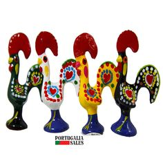 Portuguese Traditional Rooster  Galo de Barcelos N.1  1 1/2 Inches Tall  #Ibergift