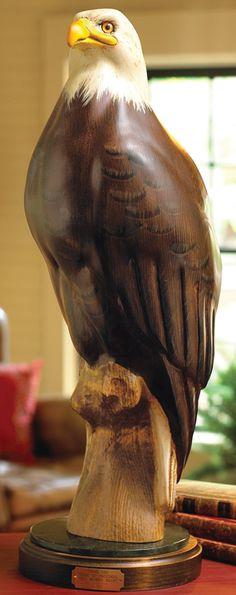Lodge Decor-Rustic Cabin Decor-Southwestern Home Decor-Log Cabin Decor-Antler Lighting - Eagle Carving