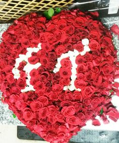 awesome vancouver florist Roses ! Roses ! Many many blooms..used to design this surprised heart shaped arrangement! #roses #redroses #whiteroses #heart #yaletown #monogram #monogramflower #yaletownflorist #sunflowerflorist by @vancouverflower  #vancouverflorist #vancouverflorist #vancouverwedding #vancouverweddingdosanddonts