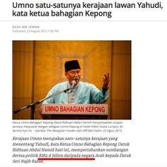 This is typical Najib. He and his administration and the people around him have shown the world that hypocrisy is indeed the best policy. Throw in buckets full of dishonesty, then we can already su...
