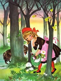 Felicitas Kuhn Little Red Riding Hood Illustration Charles Perrault, Psychedelic Drawings, Wolf, Fairytale Art, Graphic Design Services, Children's Book Illustration, Food Illustrations, Aboriginal Art, Red Riding Hood