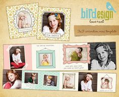 Accordion mini template 3x3 Happy Family E458 por birdesign