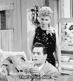 Lucy and Desi That's nice dear. Lucy and Desi That's nice dear. Queens Of Comedy, Comedy Show, Lucy And Ricky, Lucy Lucy, I Love Lucy Show, Lucille Ball Desi Arnaz, Old Shows, Classic Hollywood, Favorite Tv Shows
