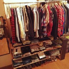 megさんの、棚,自作,壁面収納,のお部屋写真 Organizar Closet, Japanese Bedroom, Closet Remodel, Getting Organized, Shoe Rack, Diy And Crafts, House Plans, Room Decor, Storage