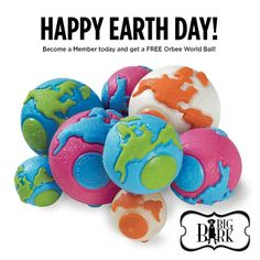 It's Earth Day! Get a FREE eco-friendly Orbee Tuff World Ball when you sign up as a Big Bark Member! TODAY ONLY! http://bigbarkonline.com/product/premium-membership/