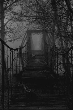 Spooky bridge, I want to do something like this for Halloween.