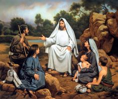 Hear Ye Him by artist Simon Dewey depicts Jesus teaching the people and can be purchased in paper and canvas reproductions on sale at Christ-Centered Art. Christian Humor, Christian Art, Christian Images, Christian Church, Arte Lds, Simon Dewey, Parables Of Jesus, Pictures Of Christ, Bible Pictures