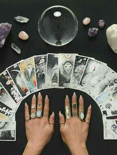 Witch Aesthetic: tarot cards, crystals & a crystal ball. Gemstone ri… Witch Aesthetic: tarot cards, crystals & a crystal ball. More from my site I love the smell of coffee & witchcraft in the morning. Wiccan, Magick, Wicca Witchcraft, Magia Elemental, Images Esthétiques, Free Images, Tattoo Und Piercing, Modern Witch, Witch Aesthetic