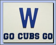 Chicago Cubs: Homemade Craft Sign