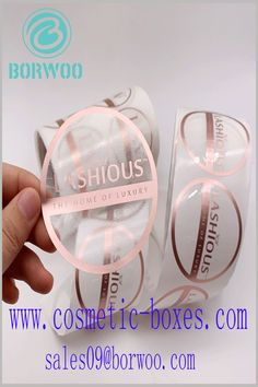 Round customized label with printing. Use the printed content of customized labels to improve product recognition. Cosmetic Labels, Cosmetic Box, Printing, Cosmetics, Content, Makeup Box