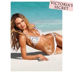 Victoria's Secret Sequin Pyramid Triangle Bikini ヴィクトリアシークレット シークイン・ピラミッド トライアングルビキニ ホワイト