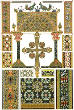 Byzantine Glass-Mosaic, Coloured Enamel and Illumination Details from Ravenna, Venice, Constantinople, Comburg and manuscript details from repositories in St Petersburg and Moscow.