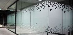 13 Facts About Window Frosting Glass Sticker Design, Glass Film Design, Frosted Glass Design, Frosted Glass Door, Window Design, Wall Design, Glass Etching Designs, Vitrine Design, Office Signage