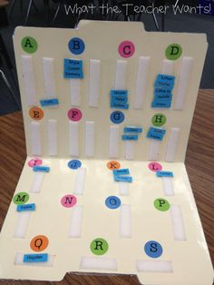 Easy way to keep track of guided reading levels.