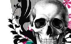 skull wallpaper desktop background imagem caveira13