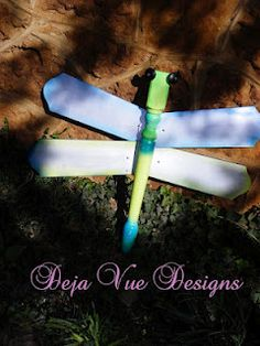 Dragonfly from a table leg and ceiling fan blades.
