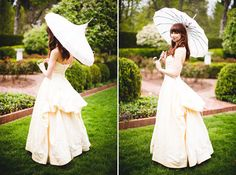 Vintage Bride with Parasol - PHOTO SOURCE • SERIOUSLY SABRINA PHOTOGRAPHY | Featured on WedLoft
