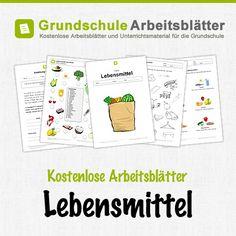 Kostenlose Arbeitsblätter und Unterrichtsmaterial für den Sachunterricht zum Thema Lebensmittel in der Grundschule.