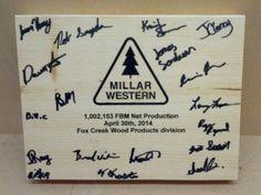 Commemoration plaques I laser engraved