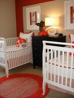 I like the idea of red in a nursery