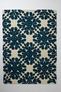 Coqo Floral Rug #anthropologie For my teal kitchen?