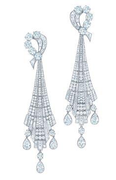 19fd8662a44 Art Deco diamond drop earrings