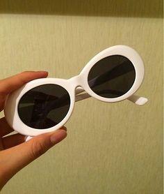 d12c591b9f7 NIRVANA Kurt Cobain Retro Sunglasses White Gray UV400 Oval GLASSES Free  Shipping