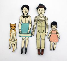 Paper Doll Portraits by Jordan Grace Owens