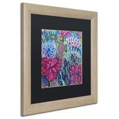 "Trademark Art 'Karma' Framed Painting Print Mat Color: Black, Size: 16"" H x 16"" W x 0.5"" D, Frame Color: Brown"