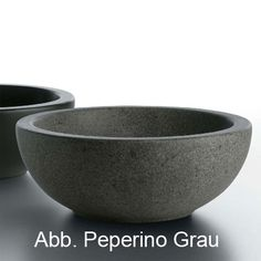 Globo Le PIETRE Aufsatzwaschtisch, rund Ardesia Stein, Oberfläche grau peperino - SC042PG | Reuter Onlineshop