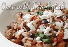 Healthy Food : Orzo with Feta Salad Recipe Read http://thecurls.com/ Try and enjoy! #TheCurls #healthyeating #healthyeatinghabits #healthyrecipes