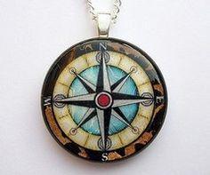 A Nautical Compass Pendant by ~luminarydreams on deviantART
