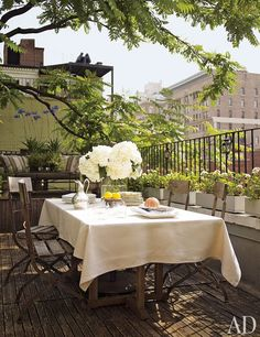 The small terrace off of our living room in the NYC apartment