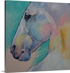 Great Big Canvas 'Lipizzaner Stallion' by Michael Creese Painting Print Format: Black Frame, Size: H x W x D Painting Prints, Wall Art Prints, Canvas Prints, Big Canvas, Canvas Size, Frames On Wall, Framed Wall Art, Buy Frames, Equine Art