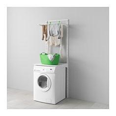 IKEA - ALGOT, Guida/ripiani/stendibiancheria, Gli elementi della serie ALGOT si possono combinare in molti modi diversi, così puoi adattare la tua soluzione alle tue esigenze e al tuo spazio.Poiché staffe, ripiani e accessori si fissano con un semplice clic, è facile montare, adattare e modificare la soluzione in base alle tue esigenze.Si può usare in qualsiasi stanza della casa, incluse le aree umide, come bagni e verande.Utilizzabile anche nei bagni e negli altri ambienti umidi della…