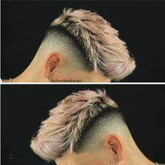 Mens Haircuts Short Hair, Teenage Boy Hairstyles, Cool Hairstyles For Men, Hairstyles Haircuts, Mens Barber Cuts, Metallic Hair Dye, Hair And Beard Styles, Short Hair Styles, Mid Fade Haircut