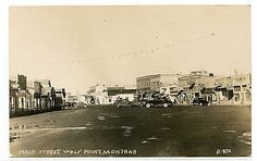 Main Street Wolf Point Montana Real Photo Postcard | eBay