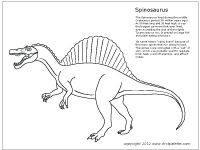 1000 images about kids dinosaur printables coloring for Dinosaur coloring pages spinosaurus