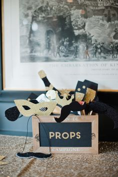 Photo booth props: http://www.stylemepretty.com/2015/04/27/elegant-english-ballroom-wedding/ | Photography: Dominique Bader - http://www.dominiquebader.com/