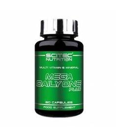 Scitec Mega Daily One Plus é uma excelente fórmula de vitaminas e minerais com 25 ingredientes. Contém um complexo de vitamina B de dose elevada e vitamina C, para além de minerais essenciais, incluindo magnésio, selénio e zinco.