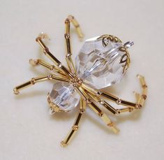 Beaded Jewelry lucky-christmas-spider-gold - The Legend of the Lucky Christmas Spider is the perfect gift for anyone this holiday season. Available in Clear Sea Glass Jewelry, Wire Jewelry, Jewelry Crafts, Beaded Jewelry, Jewelry Findings, Jewelry Ideas, Jewellery, Jewelry Trends, Beaded Bracelets