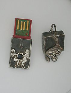 Silver pendant stick usb 8gb