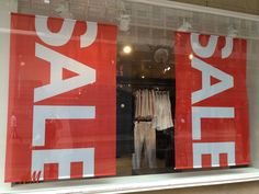 """sale"" window display - Geneva - July 2013"