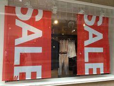 """sale"" window display - Geneva - July 2013"