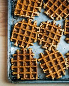 Spiced Apple Waffles with Caramelized Apple Syrup