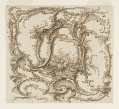 "DRAWING, ""ORNAMENT COMPOSITION"", CA. 1745"