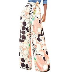 d937ffe63476d Feiterawn 2017 Orange Black Graphic Print Palazzo Pants Trousers With Sash  Women High Waist Wide Leg For Ladies