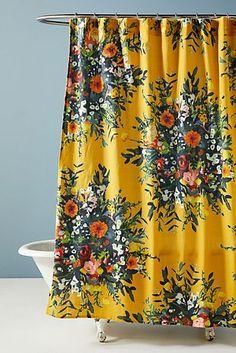 Floral Shower Curtains, Bathroom Shower Curtains, Shower Curtain Boho, Colorful Shower Curtain, Boho Bathroom, Bathroom Ideas, Small Bathroom, Master Bathroom, Houses